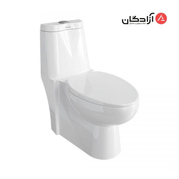 توالت فرنگی چینی کرد مدل طاووس-1