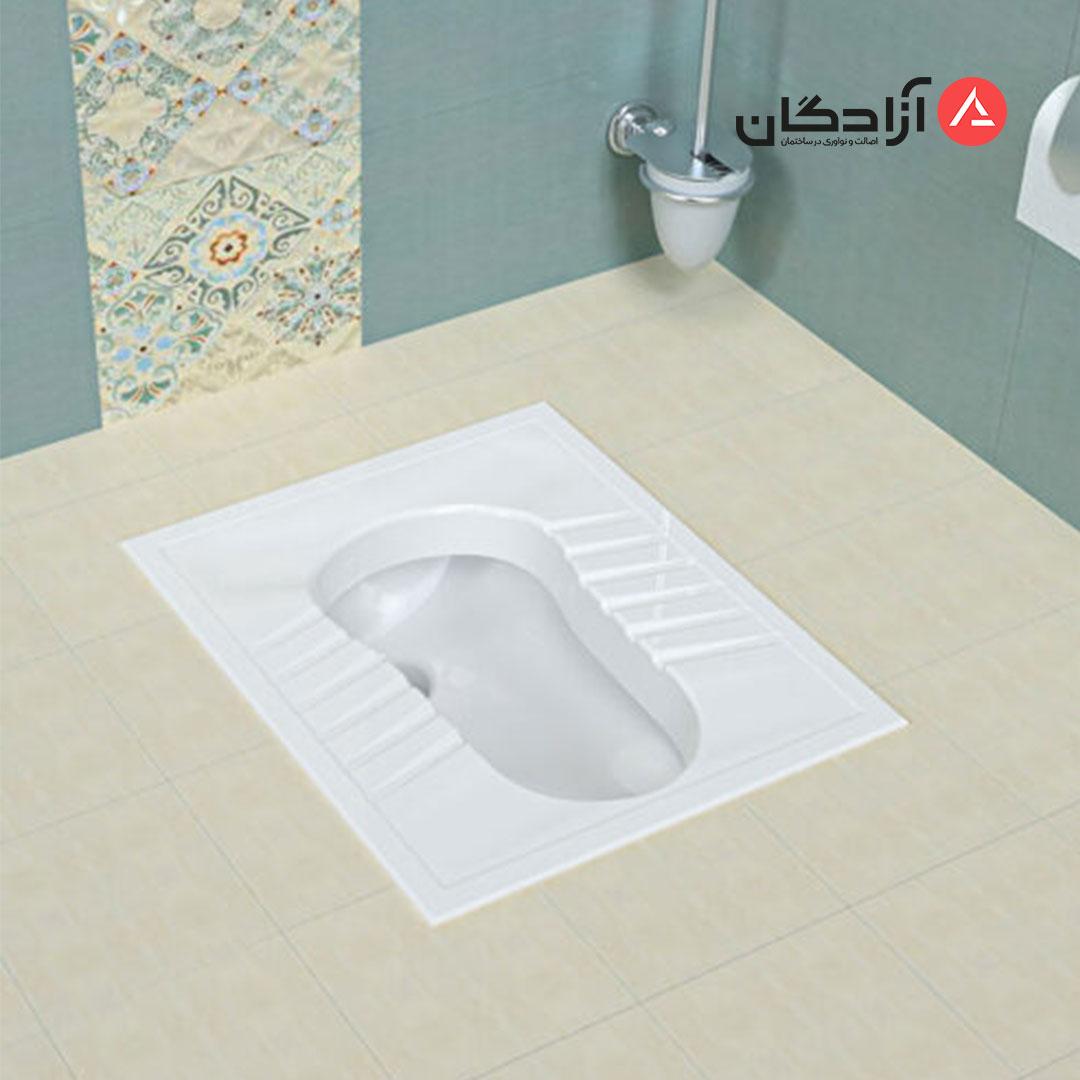 توالت ایرانی چینی کرد مدل آرین ریم بسته-4
