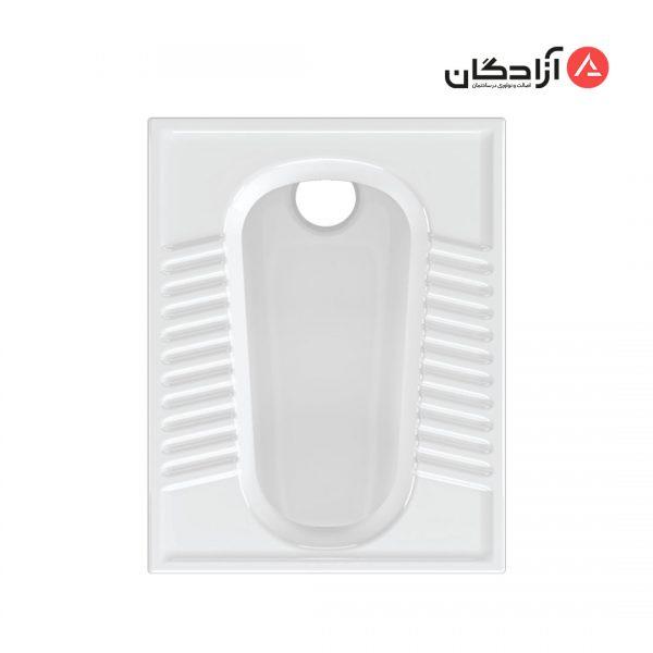 توالت ایرانی چینی کرد مدل آزالیا تخت ریم بسته-1