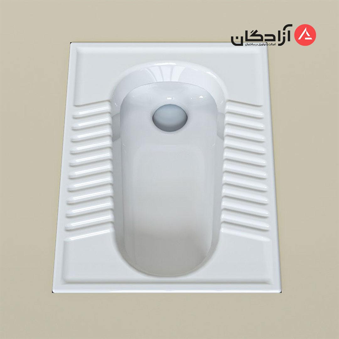 توالت ایرانی چینی کرد مدل آزالیا تخت ریم بسته-3