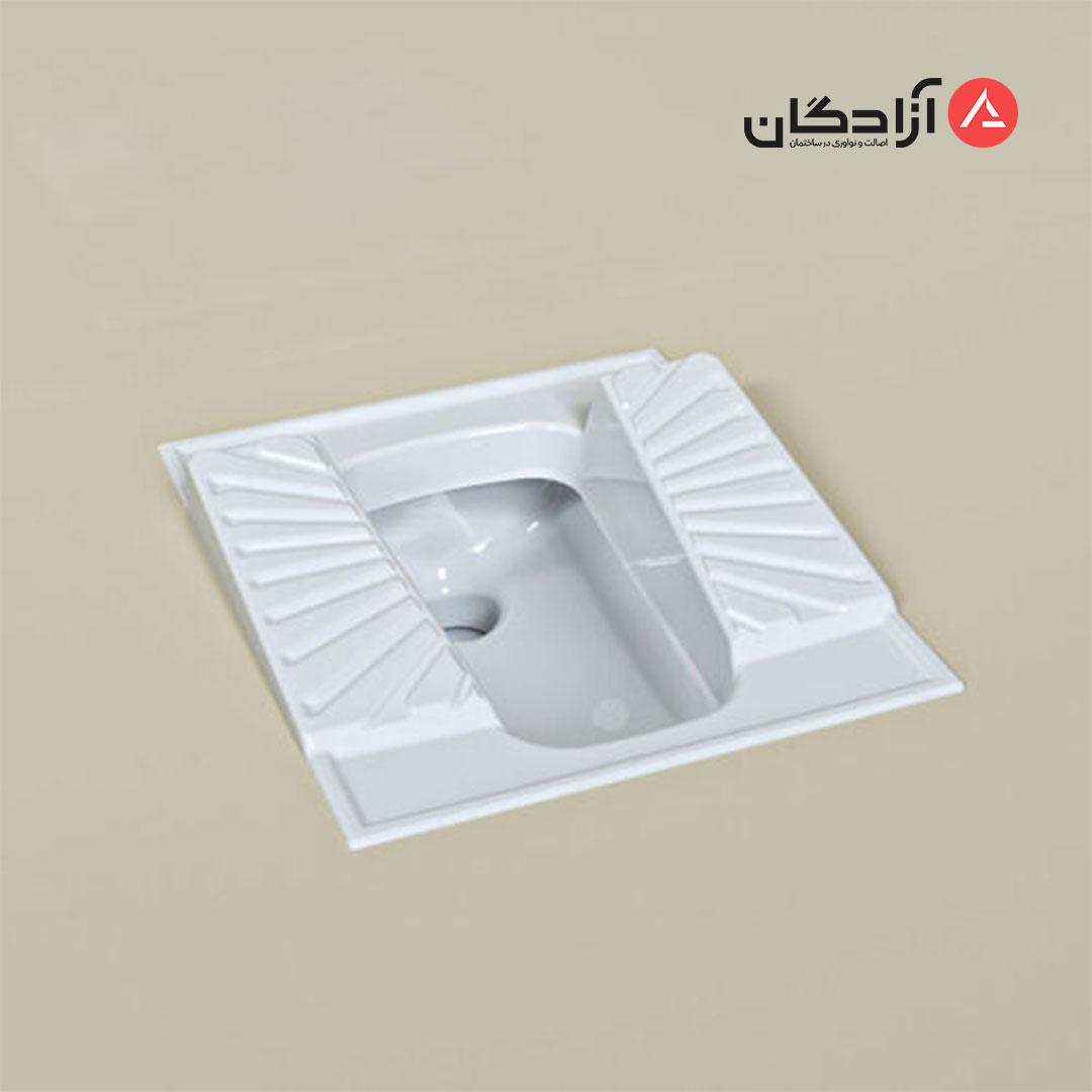 توالت ایرانی چینی کرد مدل اریکا طبی نیم گود-2