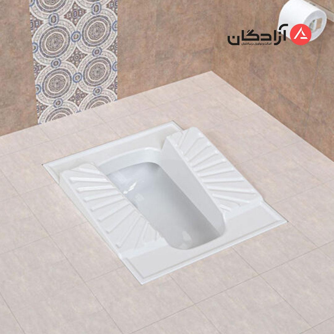 توالت ایرانی چینی کرد مدل اریکا طبی نیم گود-4