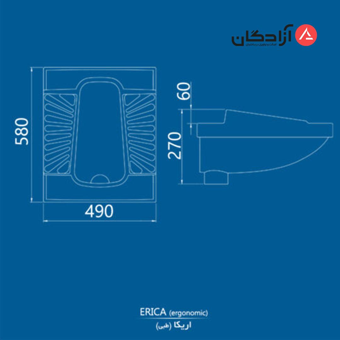 توالت ایرانی چینی کرد مدل اریکا طبی نیم گود-5