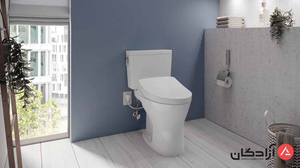 سیستم تخلیه توالت فرنگی